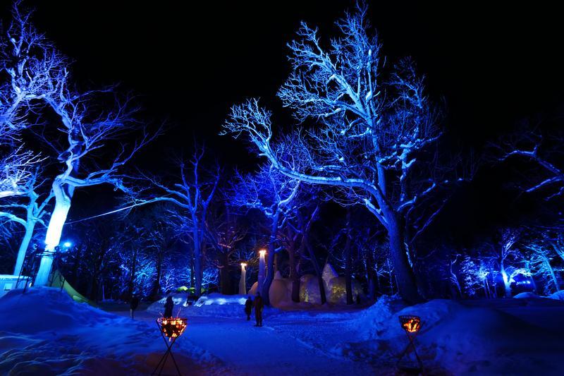 野營風的「知床流冰祭」會場就設在森林露營地內。