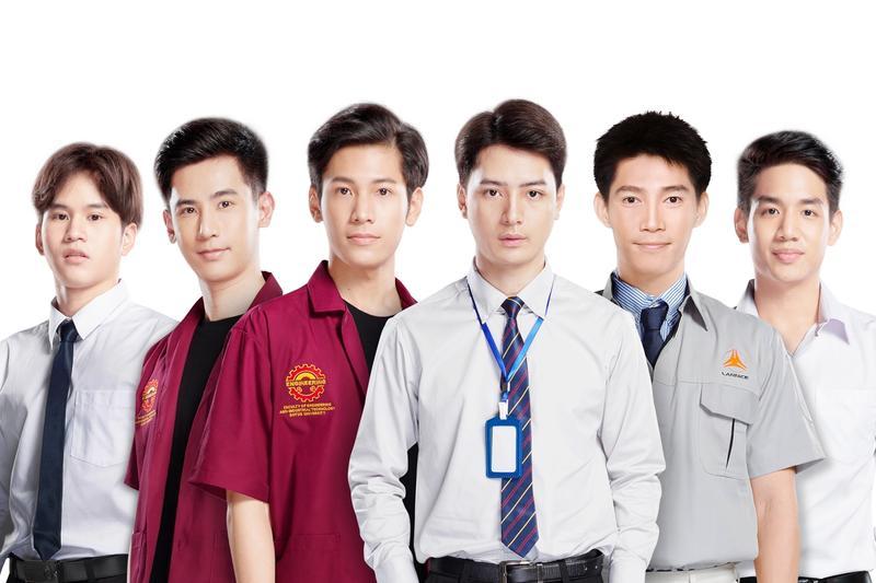 泰國BL劇《一年生2 Sotus S》將在台灣舉辦首次見面會,左起為Fiat、Oaujun、Singto、Krist、Guy及Nammon。(佳音娛樂提供)