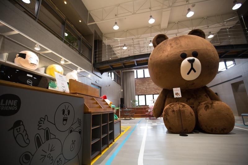 「LINE貼圖經濟」夯,三年來有超過七萬名台灣創作者投入貼圖市場。圖為LINE台灣公司總部。