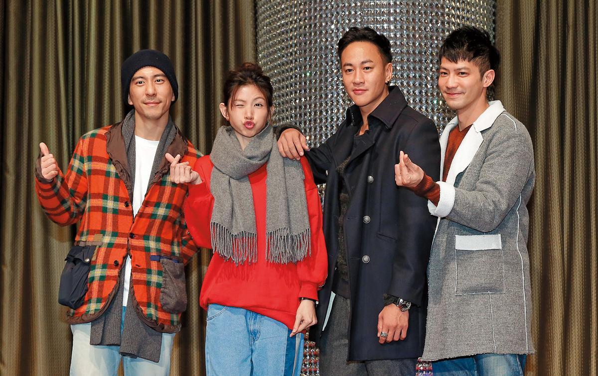 修杰楷(左)當爸後未再接拍長劇,只有日前短暫客串《翻牆的記憶》。右起為鄒承恩、何潤東、李千娜。