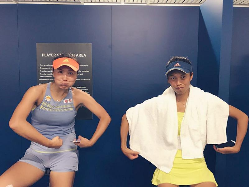 網球女雙的黃金組合,彭帥、謝淑薇因體能師發生爭執,面臨拆夥。(取自謝淑薇粉絲專頁)