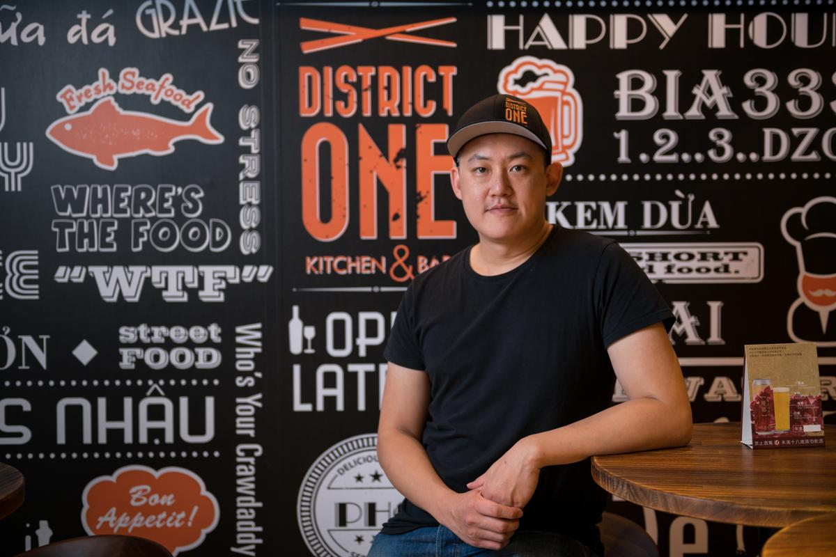 台灣負責人滕有正與合夥友人共同引進「District One」美越創意河粉。