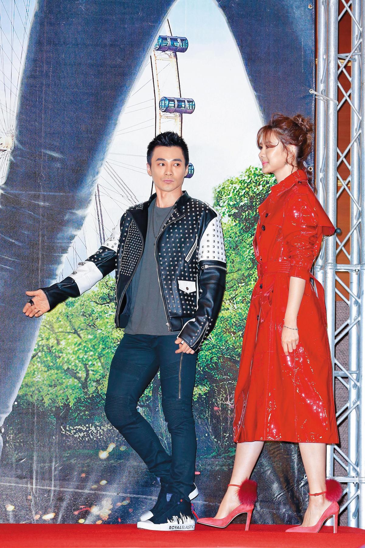 雖然是元介(左)是男主角,但站在穿了高跟鞋的安心亞旁邊,鋒頭整個被她搶去。