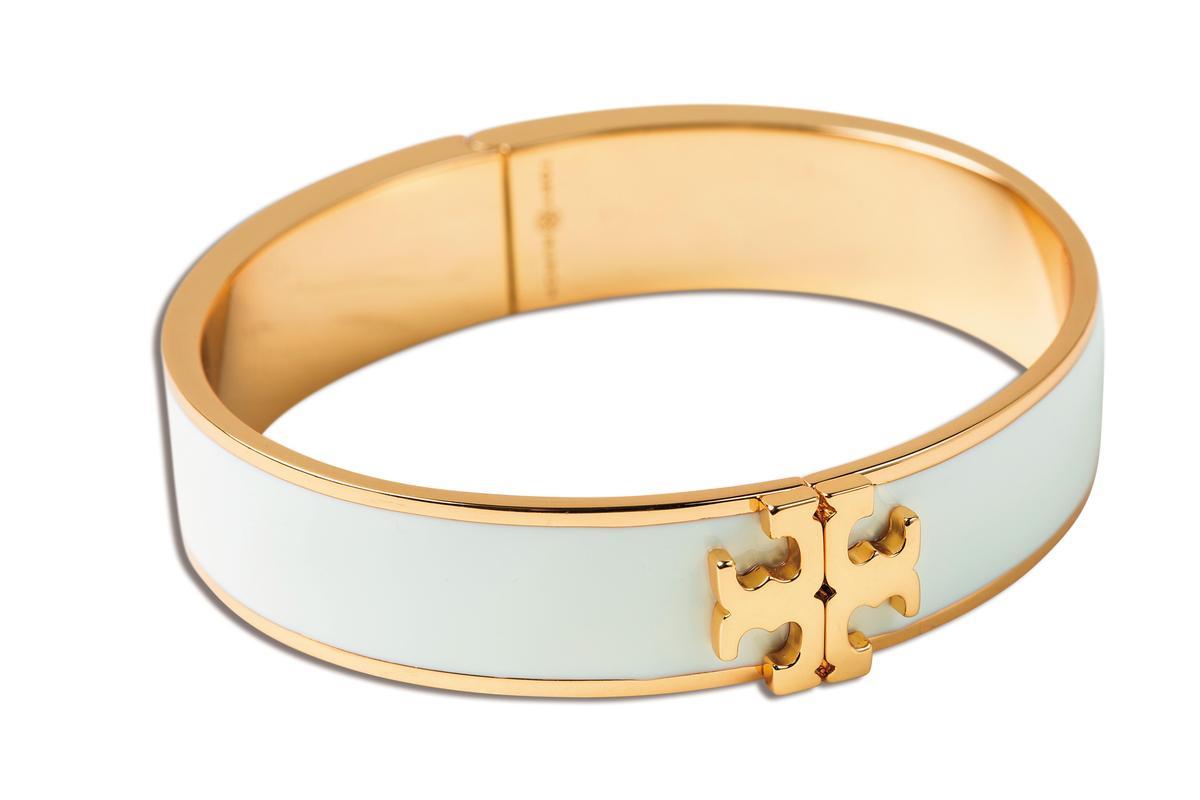 TORY BURCH白色手環,NT$6,890。