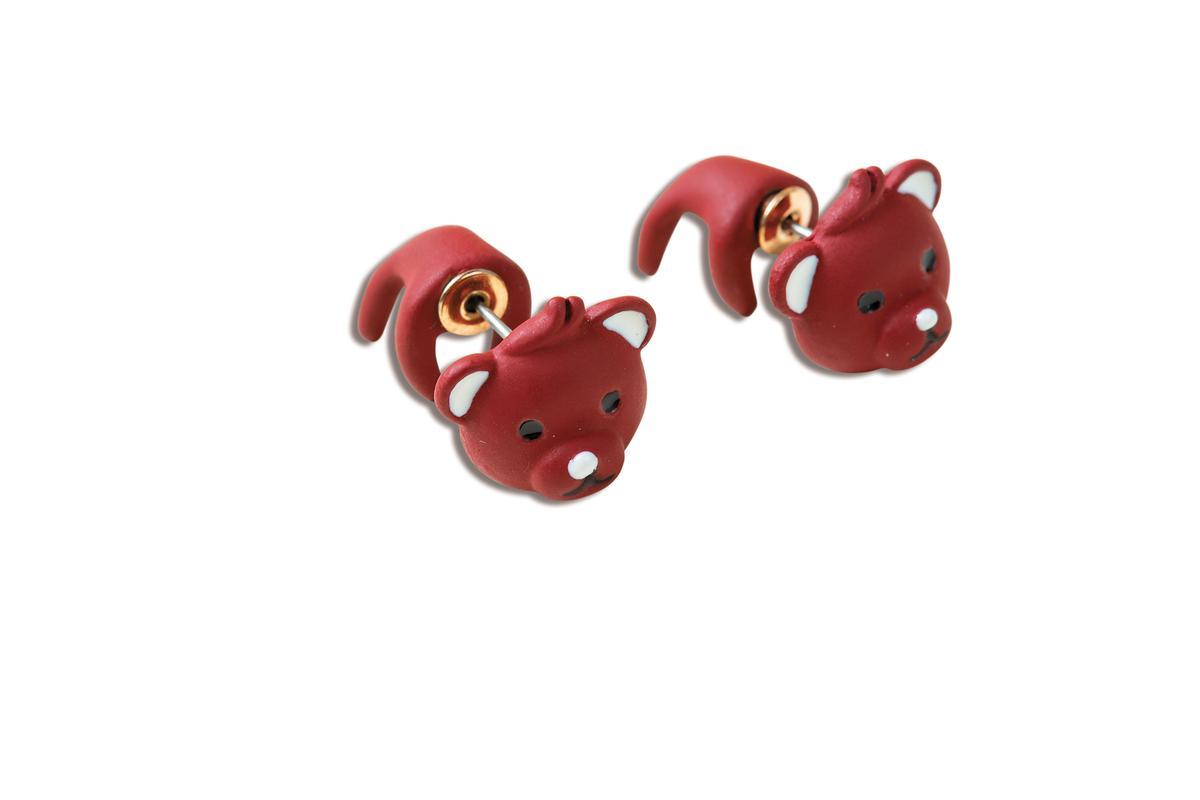 日本買的Lattice小熊耳環,約NT$300。