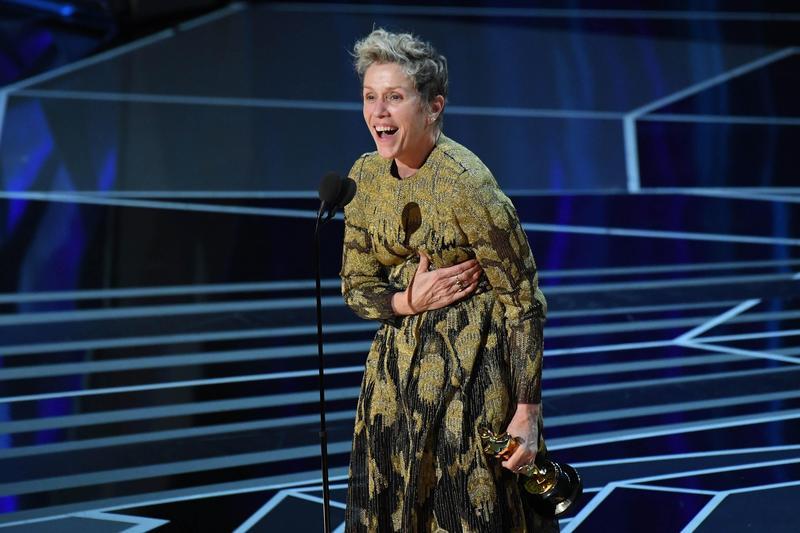 「地表最悍歐巴桑」法蘭西絲麥朵曼以當仁不讓姿態,擒下本屆奧斯卡最佳女主角獎。(東方IC)