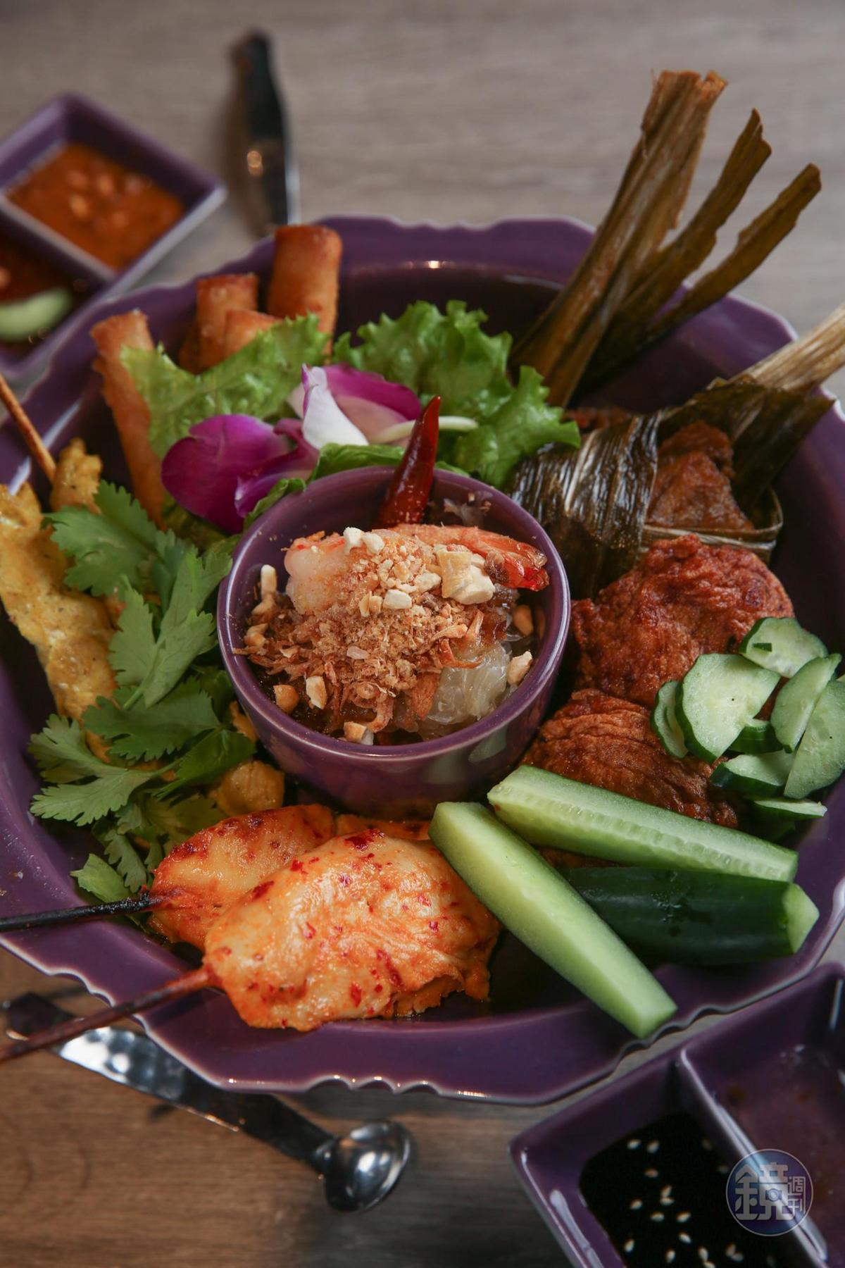 「NARA什錦拼盤」可一次集滿招牌小食,滋味各有千秋。(390元/份)