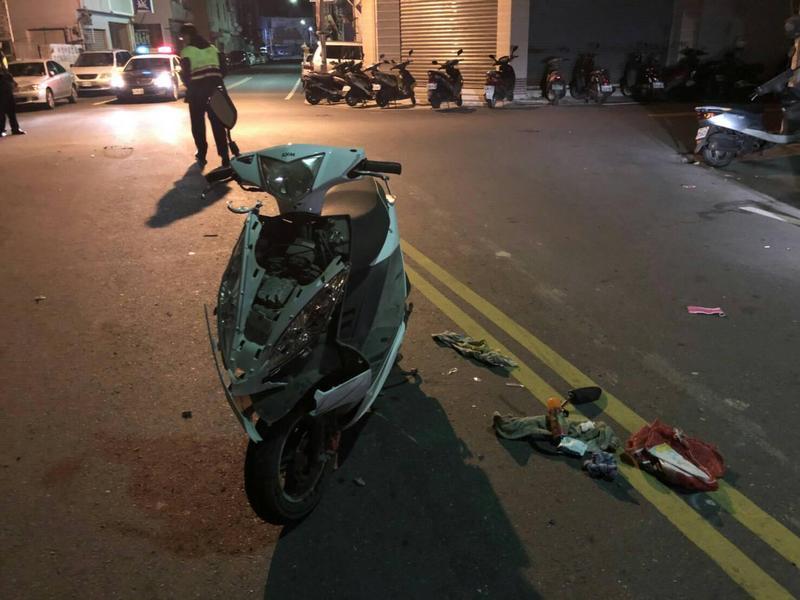 肇事大學生扮演目擊者主動向警方描述車禍經過,遭警方懷疑。(警方提供)