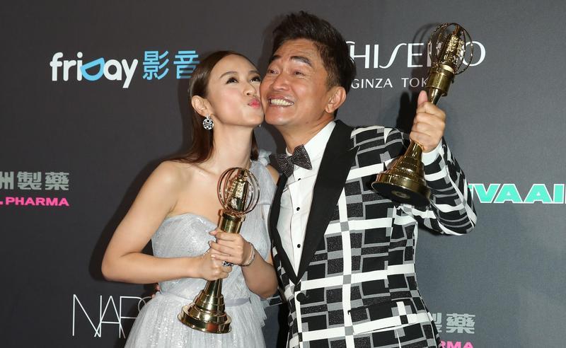 吳宗憲(右)和吳姍儒主持的《大明星小跟班》在2016年奪得金鐘綜藝節目主持人獎。