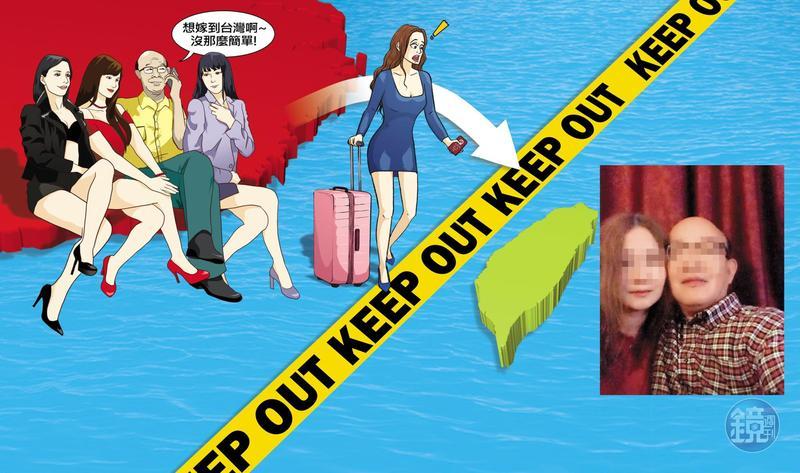 藍姓退役中校在對岸包養女人,見昔日情人即將嫁來台灣,卻百般作梗阻撓她們來台。