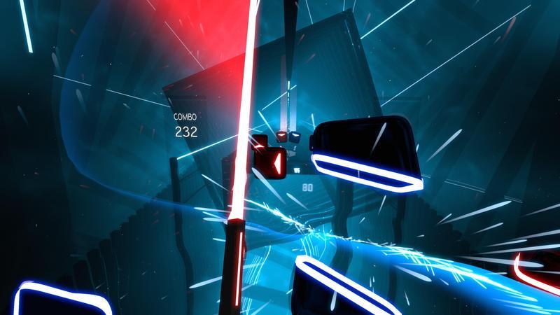 VR音樂節奏遊戲《Beat Saber》預計今年上市。(圖:翻攝自Steam)