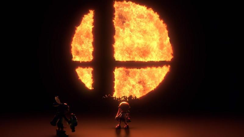 《任天堂明星大亂鬥》將在Switch發行新作,從畫面中的小小剪影來看,應該會有15~20名的角色可供選擇。(翻攝自Nintendo Direct)