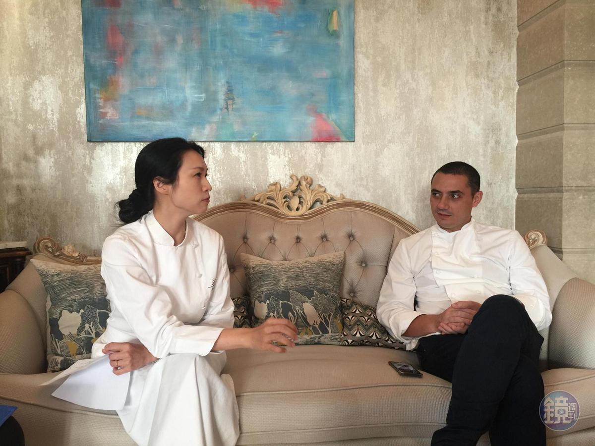 陳嵐舒談到與料理創作相關的議題,就能侃侃而談。