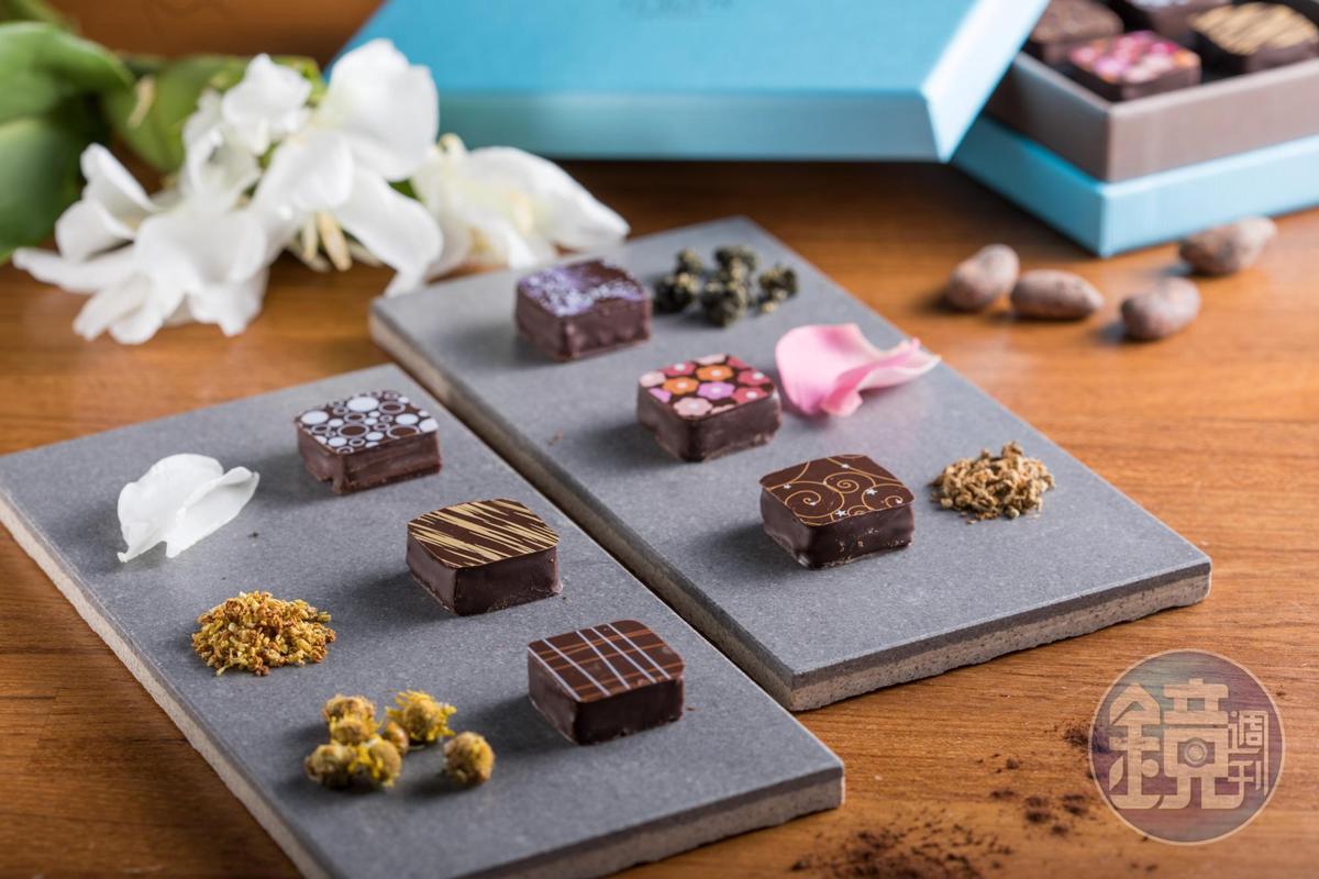 「Le Ruban Chocolat 可可法朋」主廚李依錫在巧克力裡融入台灣花香,打造有台灣味的巧克力。