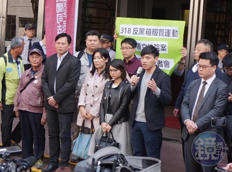 318學運妨害公務案二審宣判無罪,林飛帆、黃國昌、陳為廷等被告表示肯定此判決。
