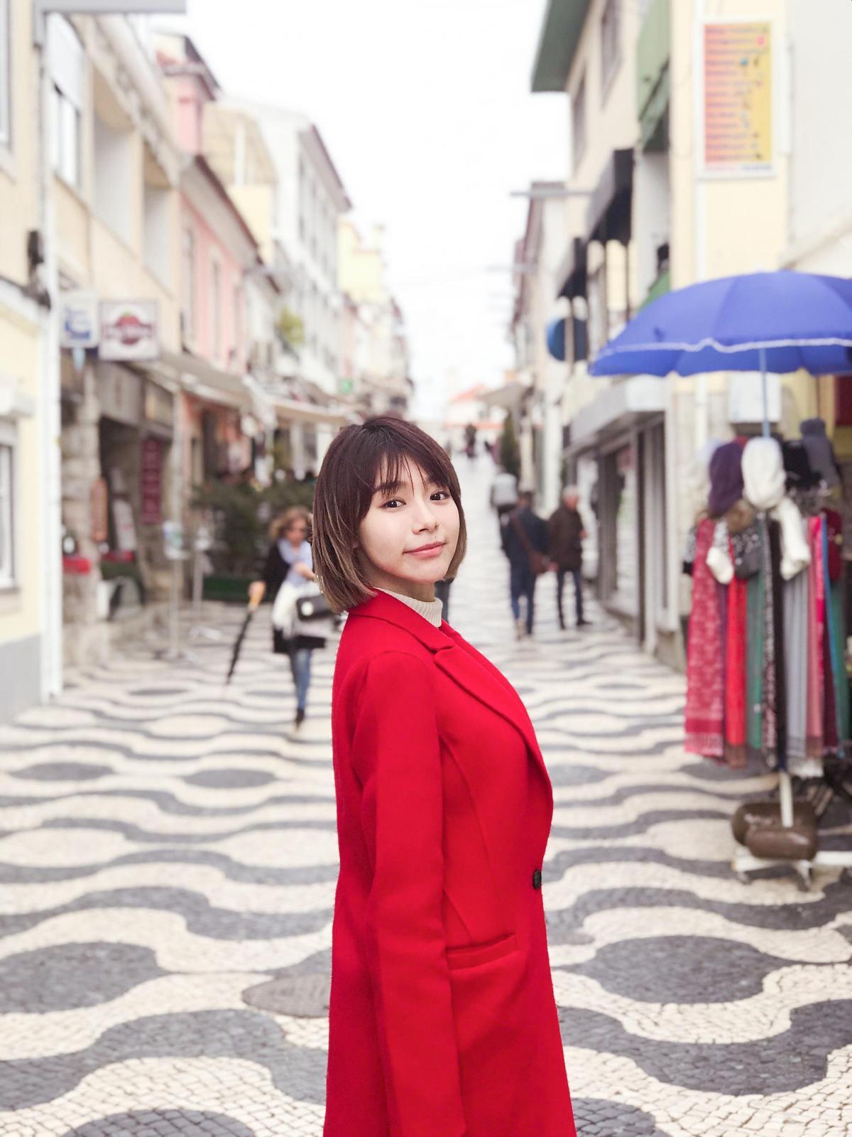 來自南國的林明禎在歐洲每天穿4件衣服還是覺得冷。(種子提供)