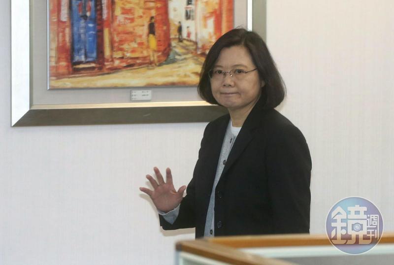 民進黨主席蔡英文今出席中執會。