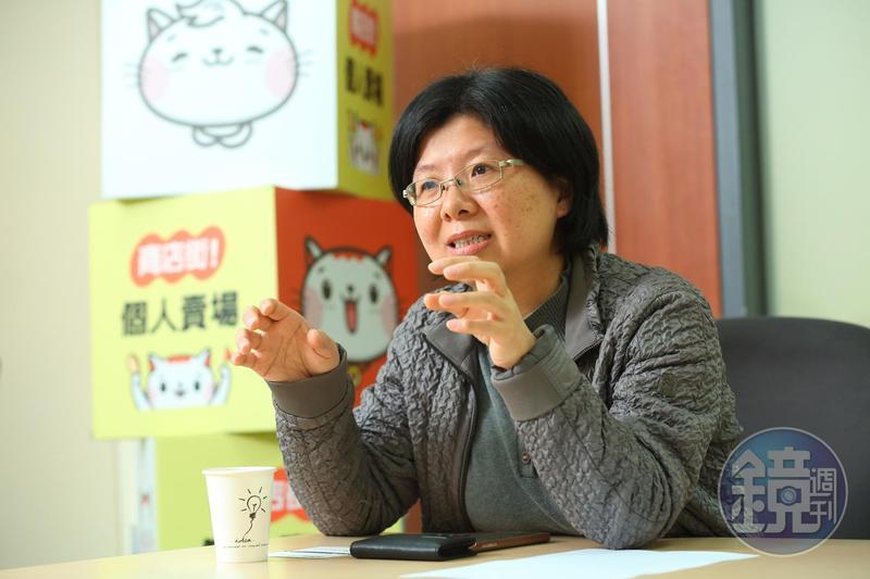 跟隨詹宏志20年,負責對戰蝦皮的商店街總經理蘇芸。