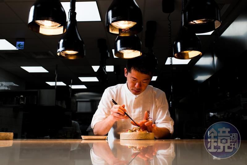 祥雲龍吟料理長稗田良平以台灣食材做出獨一無二的日本料理。