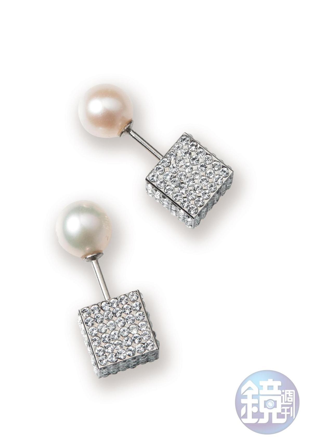 VITAFEDE珍珠耳環,NT$12,500。