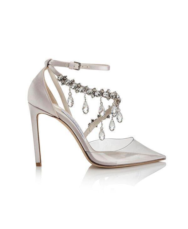 JIMMY CHOO x OFF WHITE水鑽綴飾高跟鞋。NT$74,100
