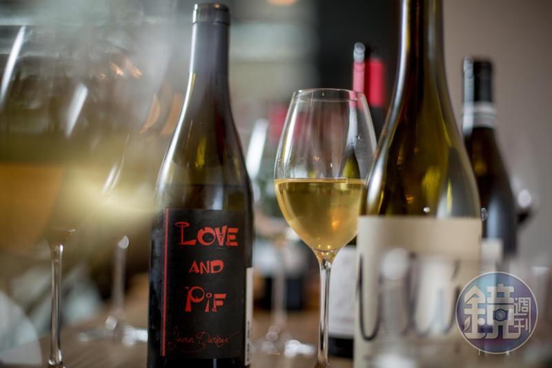 微氣泡的「Recrue des Sens, Love & Pif, Burgundy France, 2015 」帶有青蘋果的活力酸度。(1,950元/瓶)