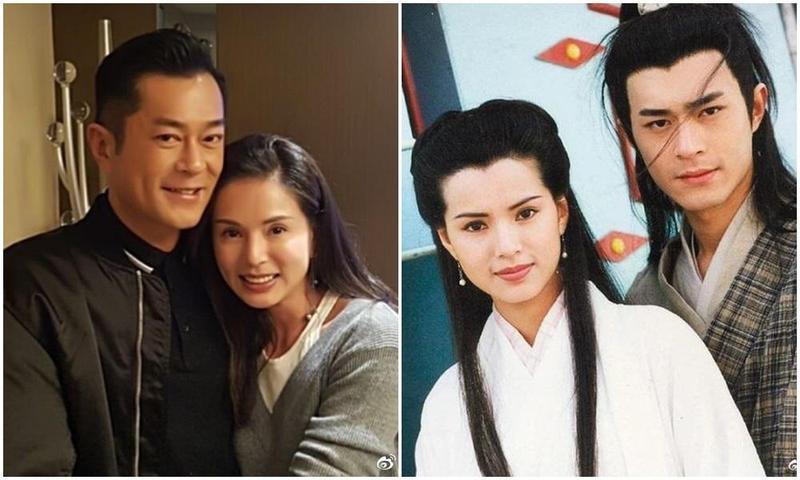 李若彤在微博貼出與古天樂的同框合照,這是他們合作《神鵰俠侶》至今23年後的第2次合照。(左圖翻攝自李若彤微博)