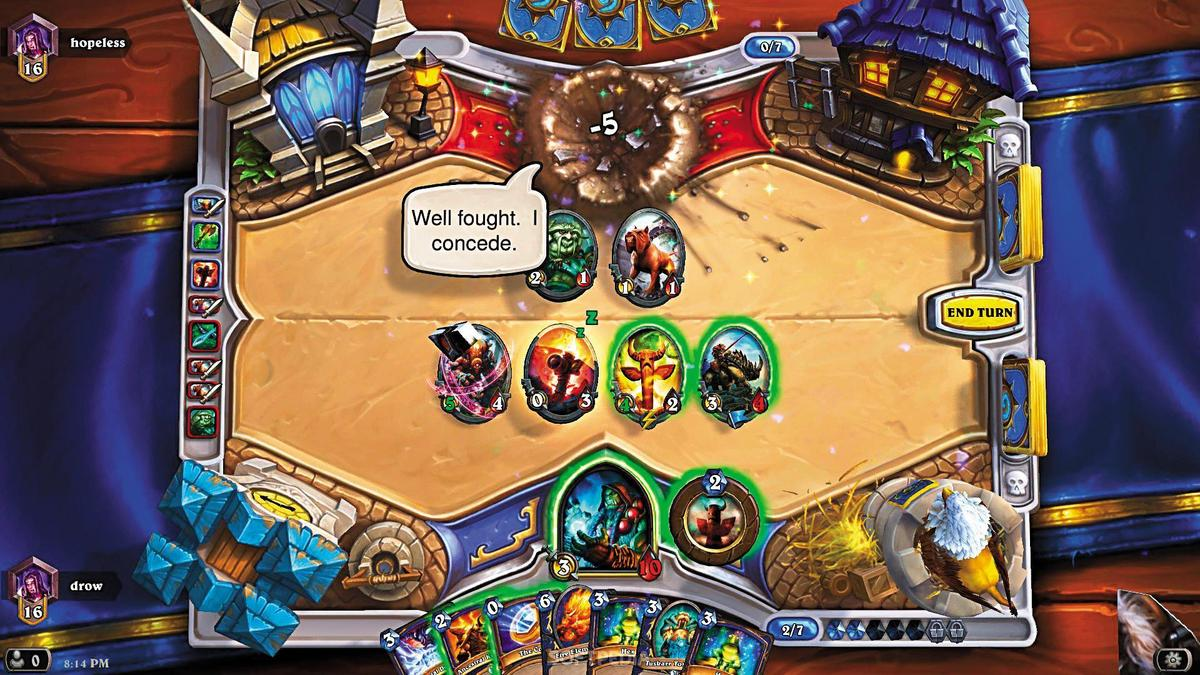 《爐石戰記》是1款以《魔獸世界》世界觀為基礎的卡片對戰遊戲,節奏明快,深受全球玩家喜愛。(翻攝網路)