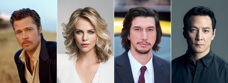 百年靈公佈的「電影行動隊」名單,找來電影界四大巨星:布萊德彼特(Brad Pitt)、莎莉賽隆(Charlize Theron)、亞當崔佛(Adam Driver),以及香港的吳彥祖。