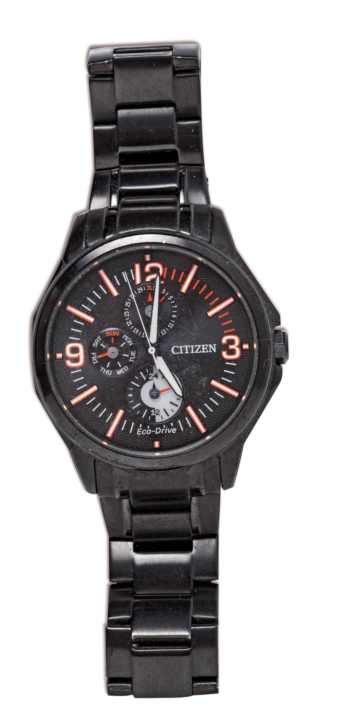 CITIZEN手錶,粉絲贈送的禮物。