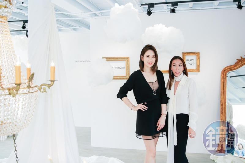 Melody與VITA FEDE創辦人兼設計師Cynthia k.Sakai一同出席開幕剪綵活動。