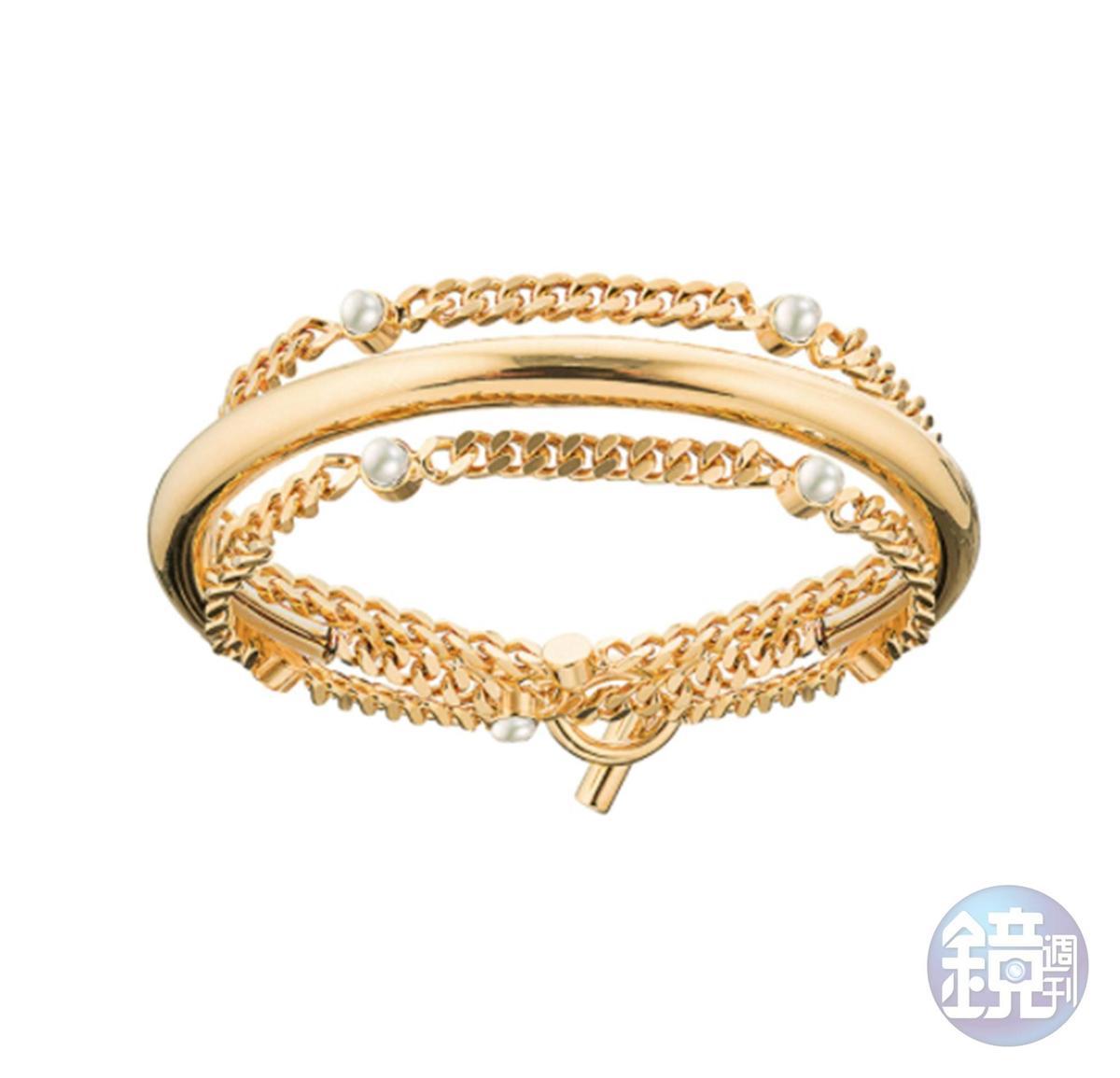 VITA FEDE X TAST獨家聯名款:Nora半弧形麻花珍珠手鍊NT$15,400。