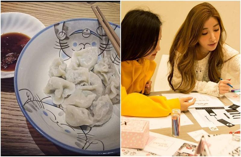 呂銳在臉書po出情人節晚餐,餐桌和許維恩家中極為類似。(翻攝網路)