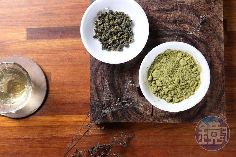 帶有柚花香氣的綠茶粉。(200元/50克)