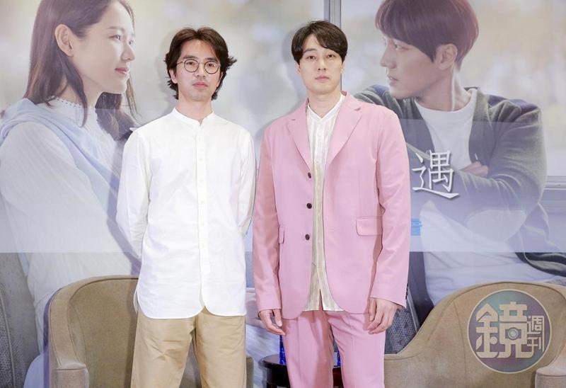 李章焄導演(左)、蘇志燮接受台灣媒體訪問,暢談與電影《雨妳再次相遇》有關的一切。