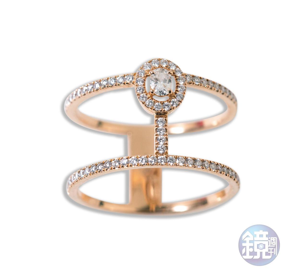 MESSIKA鑽石戒指,約NT$60,000。