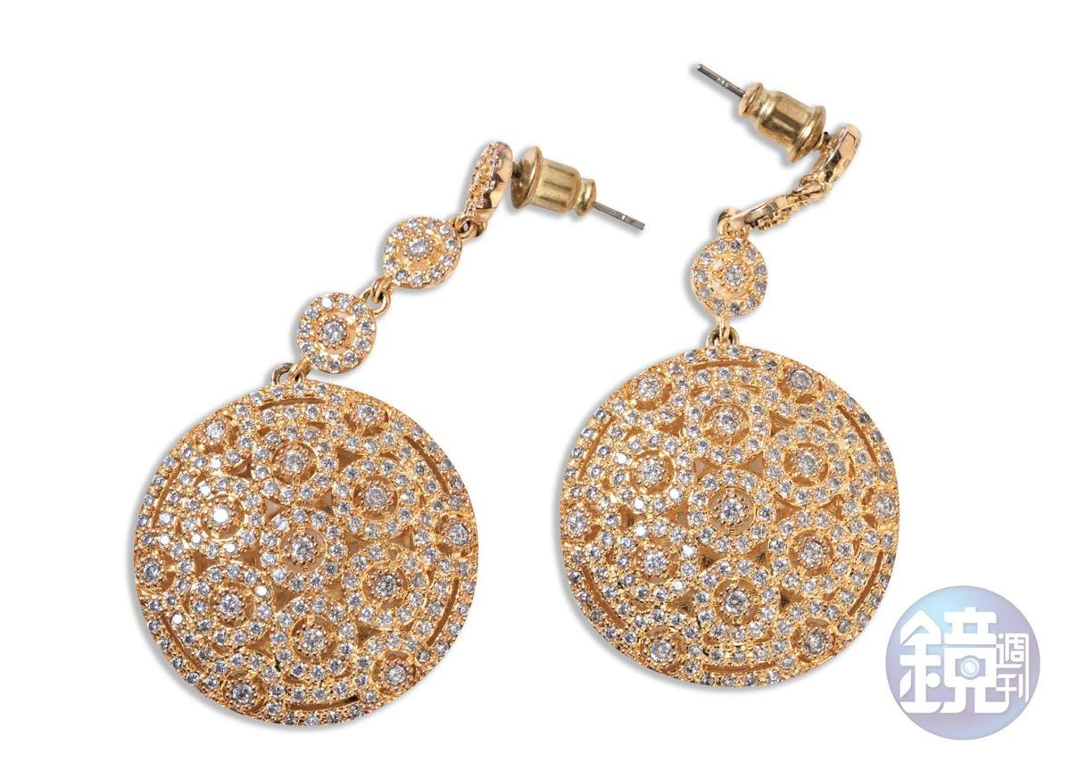 東區小店買的耳環,約NT$490。