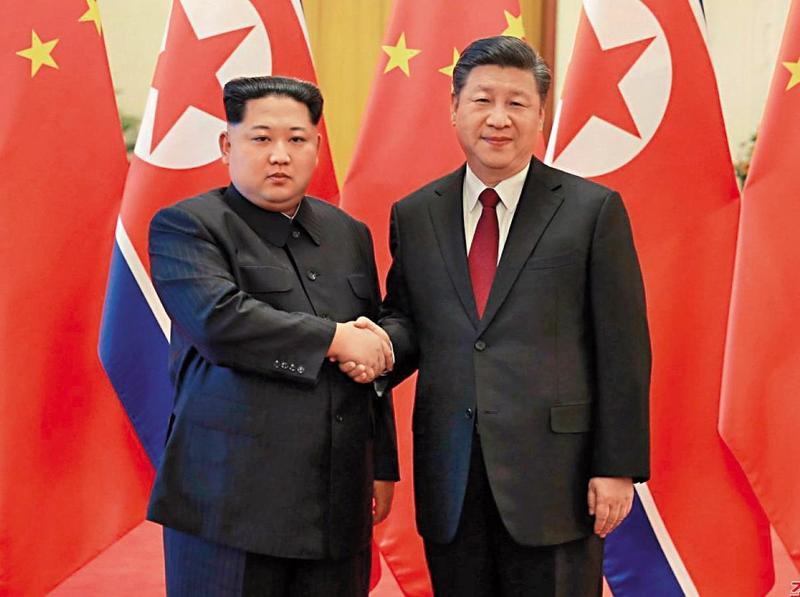 金正恩上週訪問中國,習近平熱情接待。(翻攝自新華網)