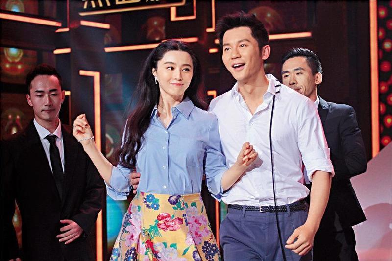 范冰冰和李晨因《武媚娘傳奇》結緣,李晨在去年9月向范冰冰求婚成功。(東方IC)