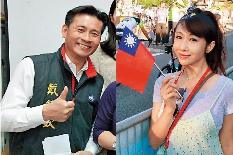 戴錫欽(左)今年51歲,是國民黨中的型男議員,44歲的許淑華(右),因長相而有「小陳敏薰」之稱。(翻攝自用心看戴粉絲團、許淑華臉書)