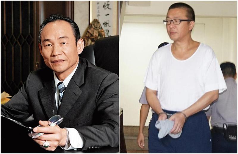 陳振豐(左)白手起家,但爭議也不少,他與基隆市前議長黃景泰(右)關係不錯。(左圖翻攝國統官網)