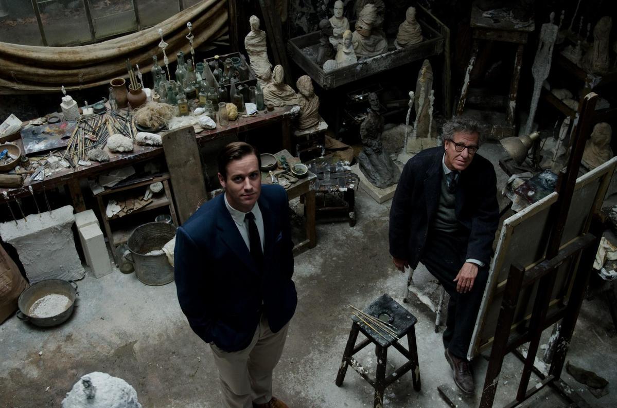 《寂寞大師》改編自真人真事,敘述瑞士國寶級當代雕刻家賈科梅蒂,與藝術評論家好友詹姆斯洛德的友誼。(傳影互動)