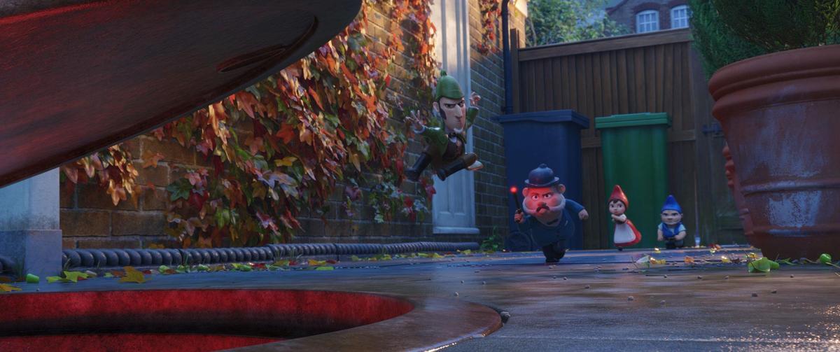 延續《糯米歐與茱麗葉》,《糯爾摩斯》來到了倫敦大都市,有別於英國鄉間的風景。(UIP)