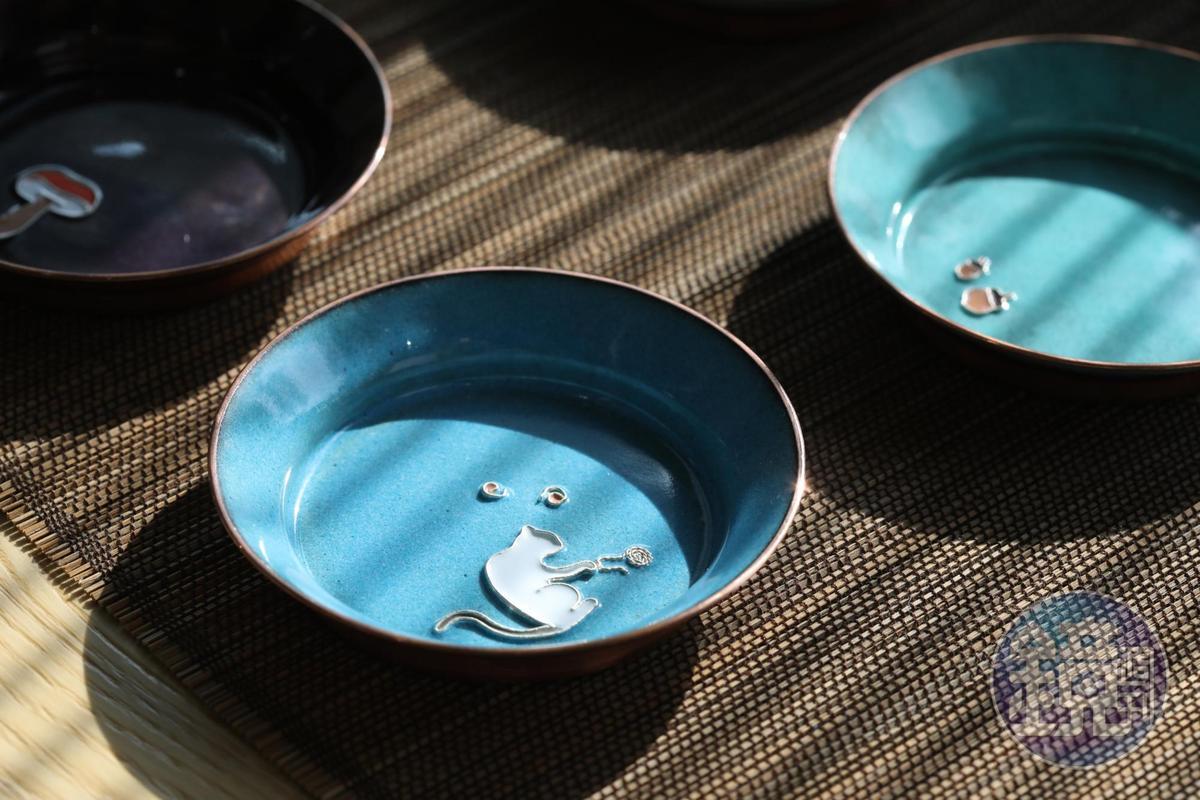 Zan Design的琺瑯銅器手法細膩精湛。(2,500元/個)