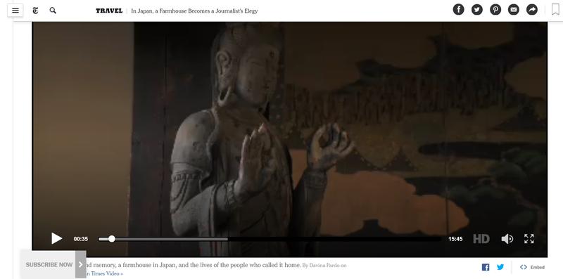 紐約時報曾報導日本古民家,並推出15分鐘紀錄短片。當中的主角,則是以保存、修建古民房為志業的日本建築師瀧下嘉弘。(翻攝紐約時報網站)