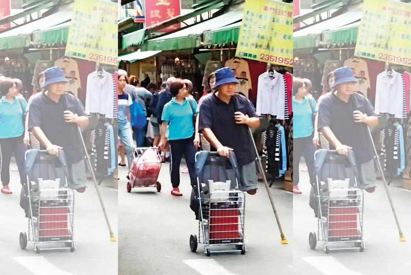中國多名身障人士去年來到台灣,在菜市場行乞。