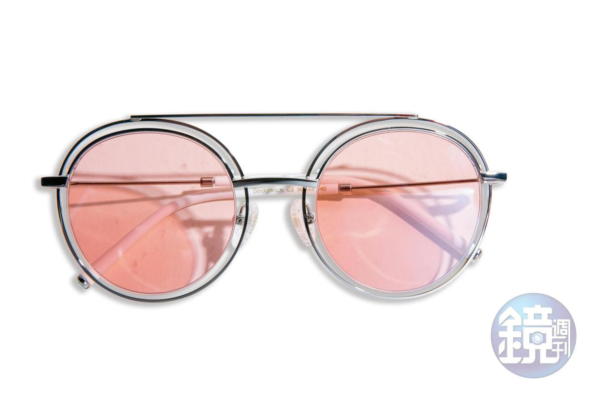 粉色CARIN墨鏡,NT$9,500。