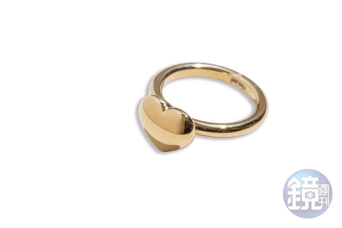 Folli Follie愛心造型戒指,NT$1,490。