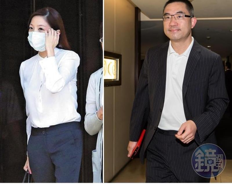 寒舍餐旅集團少東蔡伯府(右),與妻子黃閔暄(左)傳出不合,竟涉嫌傳訊息恐嚇妻子的大哥。