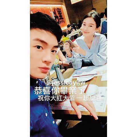 張洛偍與王顗婷感情不錯,臉書上也可見兩人一起出遊的照片。(讀者提供)